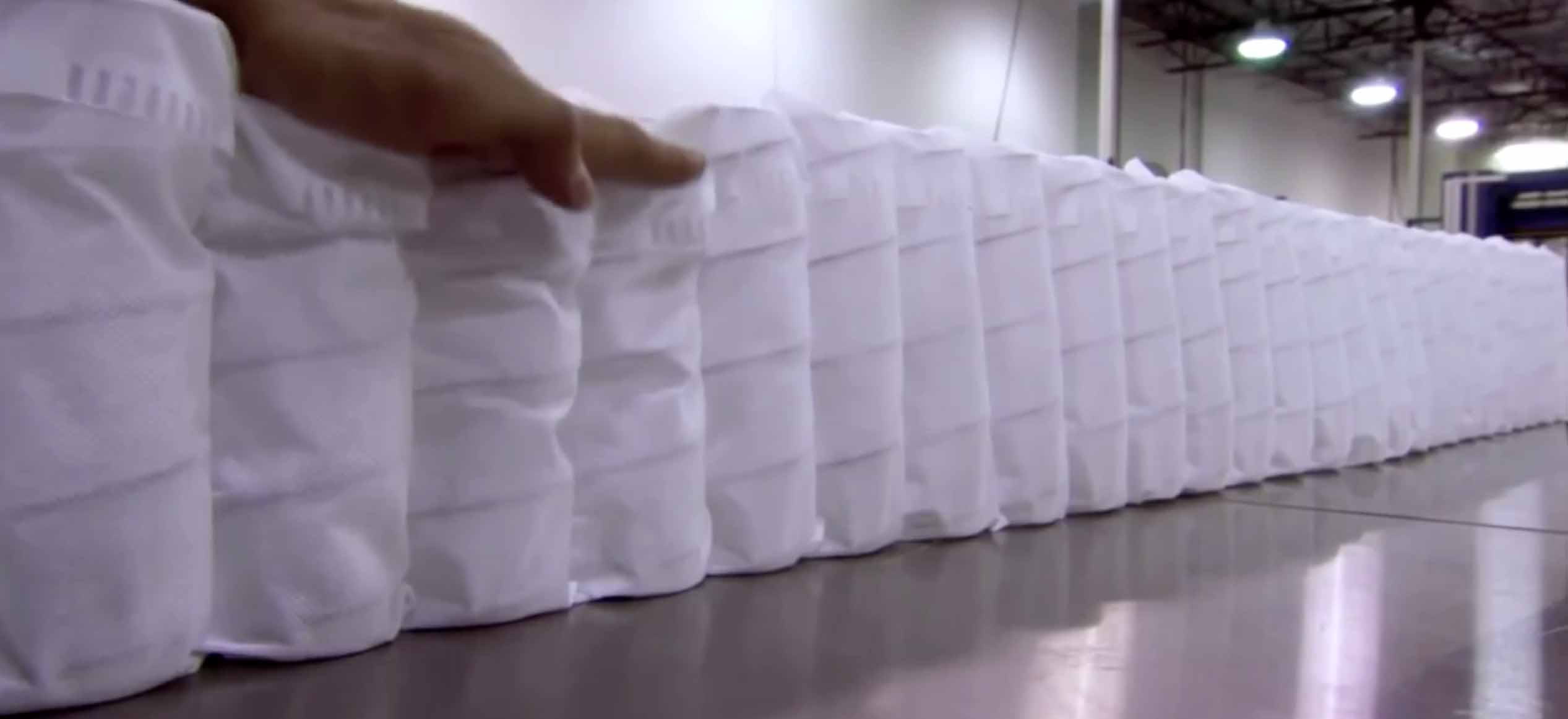 пружины матраса в ткань